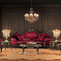 Upholstered 3 seater sofa 11410 Villa Venezia Collection by Modenese Gastone group