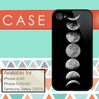 Moon case custom design available for iphone 4/4s,5/5s/5c and samsung galaxy S3/S4/S5 case