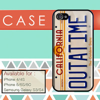 California Outatime Back to the Future custom design available for iphone 4/4s,5/5s/5c and samsung galaxy S3/S4/S5 case
