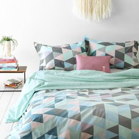 Assembly Home Dilan Confetti Duvet Cover- Mint Twin Xl