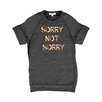 Bow & Drape, sweatshirts, comfy shirts, weekend wear, lounge, soft shirts, customized, sorry, sorry not sorry