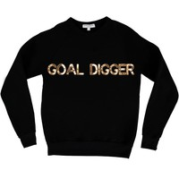 Bow & Drape, sweatshirts, comfy shirts, weekend wear, lounge, soft shirts, customized, goals, goal digger, ambitious, girl power, ambition