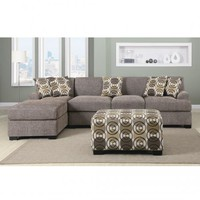 F7450+F7448 - Montereal II Slate Faux Linen Over-Sized Sectional Sofa - Furniture2Go