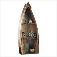 ROWBOAT CURIO CABINET - Woodworking
