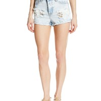 One Teaspoon Women's Hawk Denim Short in Classic