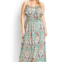 Kaleidoscope Flounce Maxi Dress