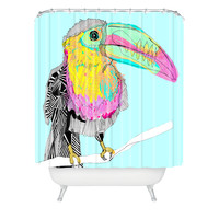 Casey Rogers Toucan Shower Curtain