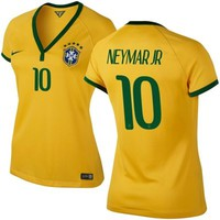 Brazil Nike World 2014 Soccer Womens Team Color Jersey -- Neymar Jr # 10