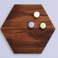 Big Hex 'Night' - Timber Serving Board