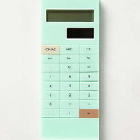 Slip-On Calculator by Anthropologie Mint One Size Office