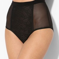 Alexis Lace + Mesh High-Waist Brief - Urban Outfitters