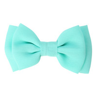 Mint Chiffon Hair Bow
