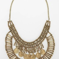 Asa Coin Bib Necklace- Gold One