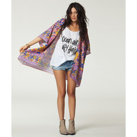 Billabong Women's Mystic Pearl Coverup Cardigan Tanline