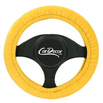 Yellow Steering Wheel Cover