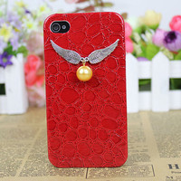 Harry Potter Golden Snitch  Case Cover for iPhone 4gs/4s by fashioncase