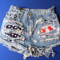 USA High Waist / Hipster Shorts