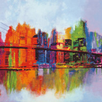 Abstract Manhattan Art Print by Brian Carter at Art.com