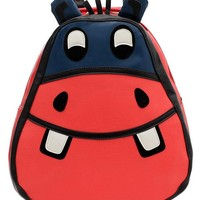 Cute Hippo PU Backpack - OASAP.com