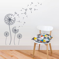 Wall Decal Vinyl  Mural Sticker Art Decor Bedroom Flowers Bedroom Dandelion (z2733)