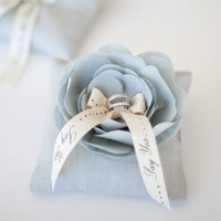EmersonMade. ~ Something Blue Ring Pillow