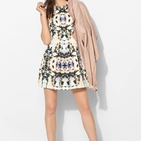 Finders Keepers Unbelievers Mirror-Print Fit + Flare Dress - Urban Outfitters