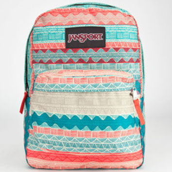 Jansport Black Label Superbreak Backpack Malt Tan Boho Stripes One Size For Men 23726095701