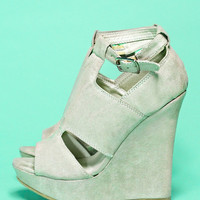 Madison Square Wedge - Light Grey