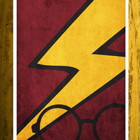 Harry Potter movie poster movie retro print harry by Harshness