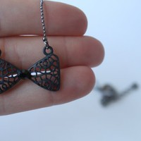 piiqshop - Market Place - Black Bow Necklace