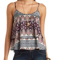 LAYERED SWING PRINT TANK TOP