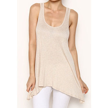 In Style 'Must Have' Oatmeal Knit Tank