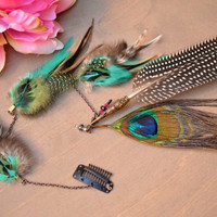 Turquoise Crush Premium Feather Hair Clip by turquoisecrush