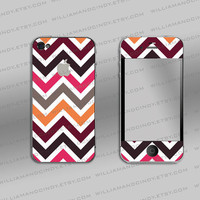 Iphone 4 cover  Chevron colour pattern by williamandcindy on Etsy