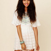 Free People FP New Romantics Embroidered Tunic at Free People Clothing Boutique