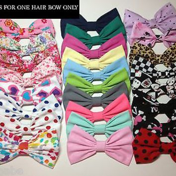 1 Hair Bow Clip for Women Teens Girls - PICK ONE BOW - CHOOSE YOUR FAVORITE!
