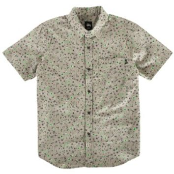Stussy Neon Flower S/S Woven - Men's at CCS