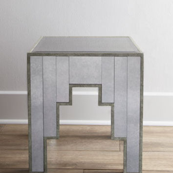 """Jewel"" Mirrored Side Table - Horchow"