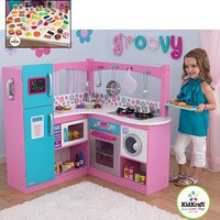 Costco - KidKraft My Groovy Gourmet Corner Kitchen 60-piece Foods Play Set