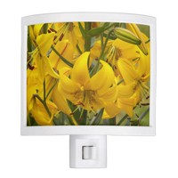 Yellow Lilies Floral Night Light