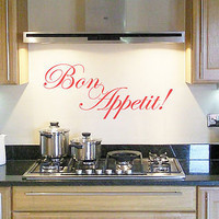 bon appetit wall art sticker / decal by nutmeg | notonthehighstreet.com