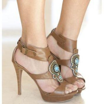 STONE EMBELLISHED PLATFORM HEELS | Body Central