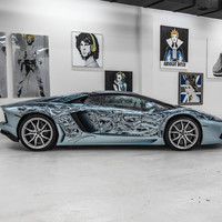 LAMBORGHINI AVENTADOR PAINTED BY JONA CERWINSKE FOR ART BASEL