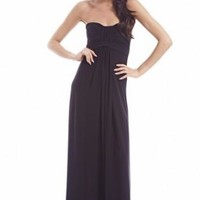 Plain Strapless Maxi Dress