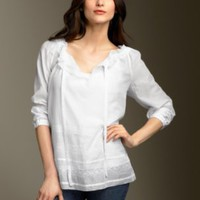 Apparel Classic Clothing at Talbots - Eyelet tunic