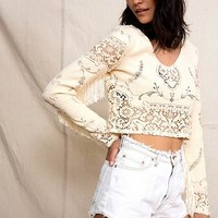 American Vintage Lace Fringe Top- Assorted