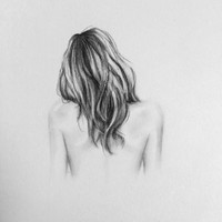 """Original charcoal drawing of """"Lily"""" - 8X10"""