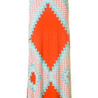 Skippin Town Maxi Skirt - Mint + Orange | Daily Chic