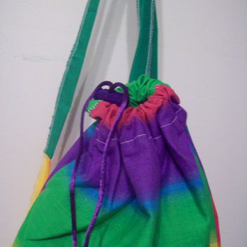 cute and colorful, one of a kind rainbow pattern backpack/purse