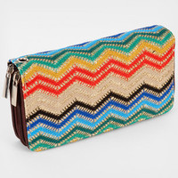 FredFlare.com - Sparkly Zig Zag Wallet - Rainbow Wallet With Zipper Closure